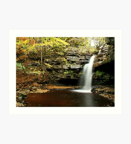 Gibson's cave waterfall in slow mo Art Print