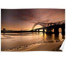 Runcorn/Widnes Bridge Sunset.... Poster