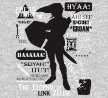 "Legend of Zelda - Link ""Quotes"" One Piece - Long Sleeve"