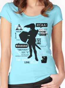 """Legend of Zelda - Link """"Quotes"""" Women's Fitted Scoop T-Shirt"""