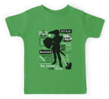 "Legend of Zelda - Link ""Quotes"" Kids Tee"