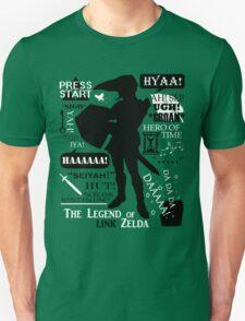 """Legend of Zelda - Link """"Quotes"""" Unisex T-Shirt"""