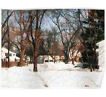 Winter on My Street Poster