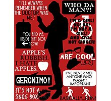Doctor Who - 11th Doctor Quotes Photographic Print