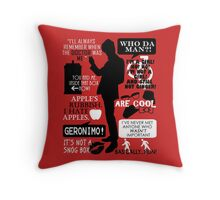 Doctor Who - 11th Doctor Quotes Throw Pillow