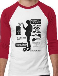 Doctor Who - 11th Doctor Quotes Men's Baseball ¾ T-Shirt