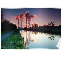 Fiddlers Ferry Power Station at Sunset.... Poster