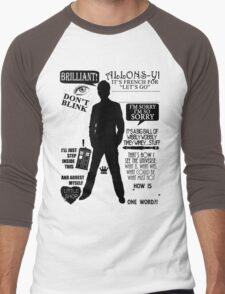 Doctor Who - 10th Doctor Quotes Men's Baseball ¾ T-Shirt