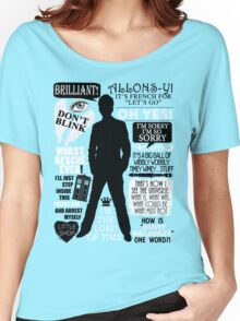 Doctor Who - 10th Doctor Quotes Women's Relaxed Fit T-Shirt