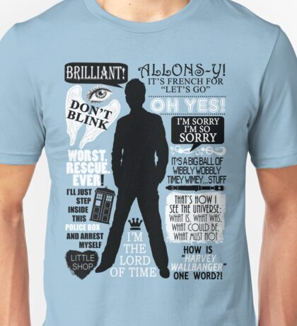 Doctor Who - 10th Doctor Quotes Unisex T-Shirt
