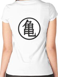 Dragon ball Kame sennin symbol Women's Fitted Scoop T-Shirt
