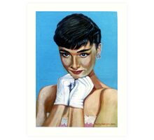 The White Gloves Art Print