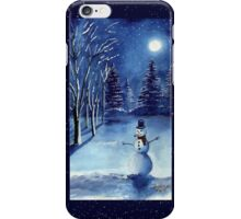 Starlit Snowman iPhone Case/Skin