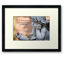 Becoming Part of the Silence Framed Print