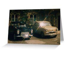 50's motoring Greeting Card