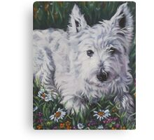 West Highland Terrier Fine Art Painting Canvas Print