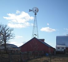Windmill on a Farm by Deb Fedeler