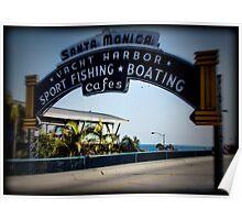 Santa Monica Pier Sign. Series. 3 of 5. Holga Color Poster