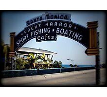 Santa Monica Pier Sign. Series. 3 of 5. Holga Color Photographic Print