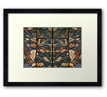 Reflections of Pavers Framed Print