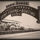 Santa Monica Pier Sign. Series. 5 of 5. Vintage. by RickyBarnard