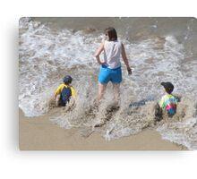 A Wave!!!! - Una Ola!!!!! Canvas Print