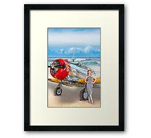 Miss Madison Louise - beach warbird Framed Print