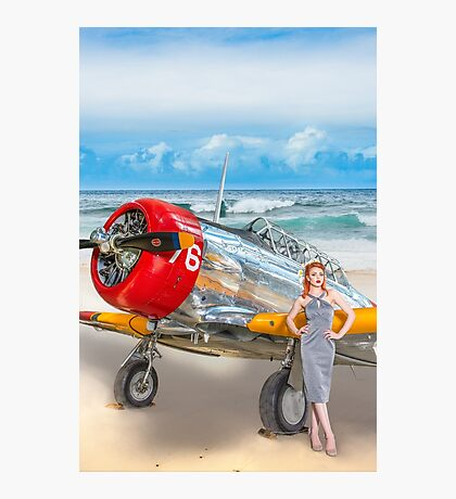 Miss Madison Louise - beach warbird Photographic Print
