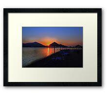 Elounda Beach at dawn Framed Print