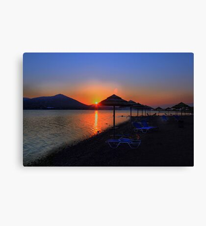 Elounda Beach at dawn Canvas Print