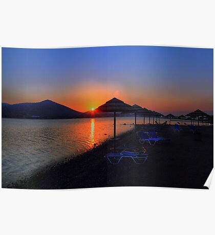 Elounda Beach at dawn Poster