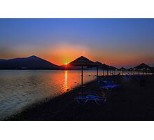 Elounda Beach at dawn Photographic Print