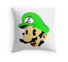 Retro Luigi Throw Pillow