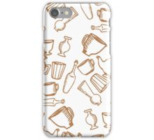 Dishes brown pattern iPhone Case/Skin