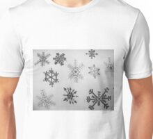 Black and white snowflakes  Unisex T-Shirt