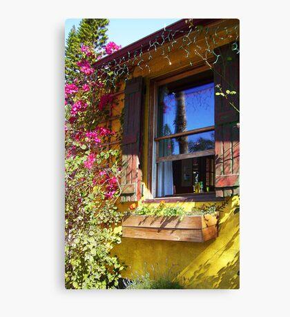 TAVERN WINDOW ON A SUNNY DAY Canvas Print