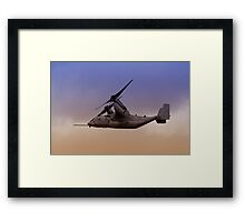 Osprey In Flight Series 3 of 4. Framed Print