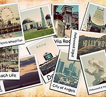 Los Angeles Polariod Collage by RickyBarnard