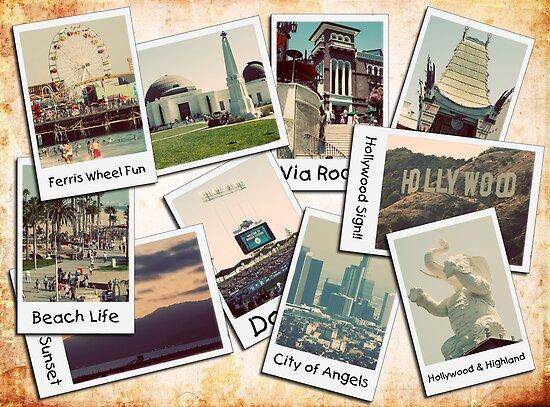 Los Angeles Polariod Collage by RickyBarnard