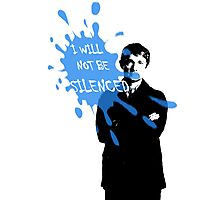 I Will Not Be Silenced - John - BBC Sherlock Photographic Print