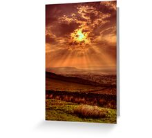 Sunset at the Nick of Pendle Greeting Card