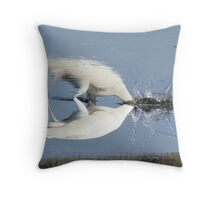 Two worlds collide Throw Pillow