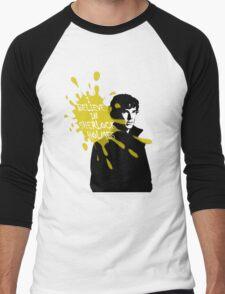 I Believe in Sherlock Holmes - Sherlock BBC Men's Baseball ¾ T-Shirt