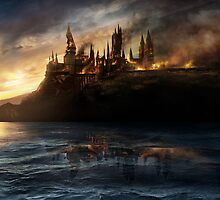 Hogwarts on Fire by NathalieJayne
