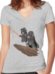 Star Wars Lion King Women's Fitted V-Neck T-Shirt