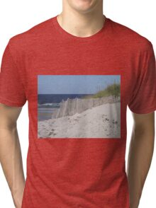 Beach beyond the sand dunes Tri-blend T-Shirt