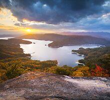 Blue Ridge Mountains Sunset - Jocassee Gold by Dave Allen