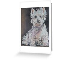 West Highland Terrier Fine Art Painting Greeting Card