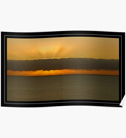 Beachy head cloudy sunrise Poster