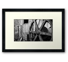 Gears Grind To A Halt Framed Print